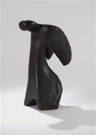 弓形塑像 bowing figure by wang keping