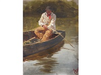 punt on the arun by george vicat cole