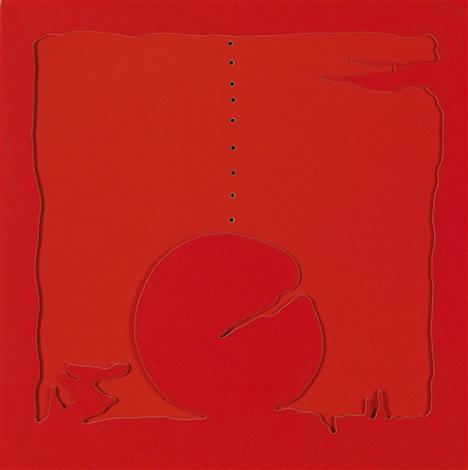 concetto spaziale teatrino rosso by lucio fontana