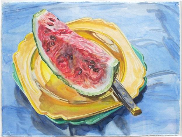 Watermelon slice by Janet Fish on artnet