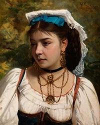 bildnis einer jungen italienerin by leonardo gasser