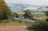 west country landscape with farmhouse by david smith