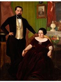 portrait eines ehepaars in elegantem interieur by constantino sereno
