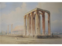 temple of jupiter, athens by spyridon scarvelli