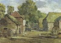 poultry in a farmyard by octavius oakley