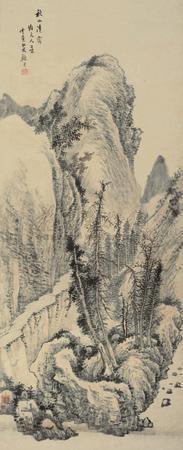 秋山清霭 landscape by gu yun