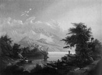 oberitalienische seenlandschaft by carl von kratzer