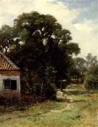 et hus i skovens udkant by emanuel ernst gerardus van der ven