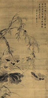 秋柳鸣蝉 by jiang tingxi