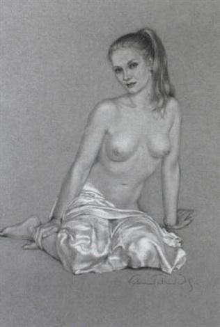 sitzender weiblicher akt by victoria fontaine wolf