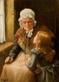 großmutter und enkelin by paul emmanuel legrand