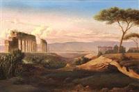 ruiner på den romerske campagne by eduard agricola