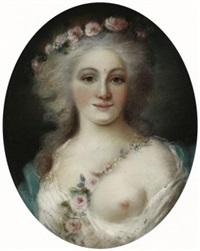 brustporträt der maria caroline von österreich. königin von neapel und beider sizilien by ernst von valentini