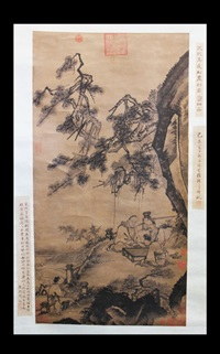 chinese figures and landscape by ma yuan