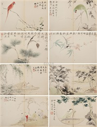 人物花鸟册 (character birds and flowers) (album w/12 works) by xu yi