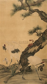 crane and pine by xu decheng