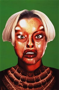 refiguration - selfhybridation (set of 6 works + 3) by orlan