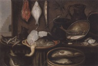 nature morte med fisk by isaac van duynen