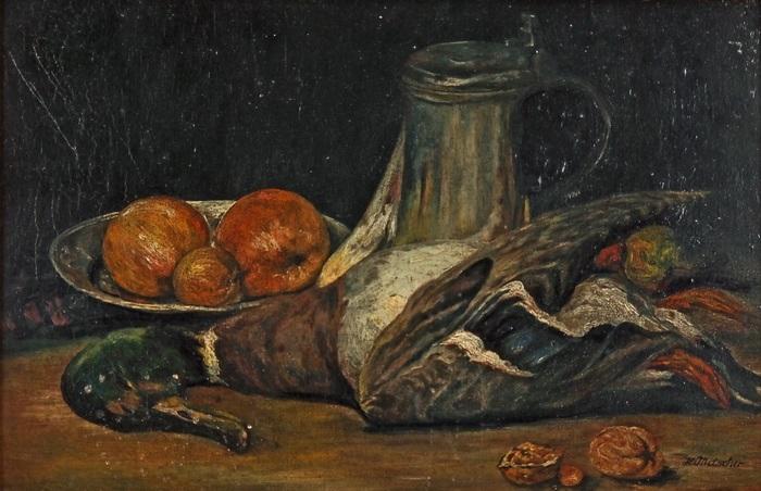 stillleben mit toter ente by heinrich mitscher