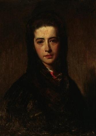 brustporträt einer aristokratin emilie von stratner by heinrich von angeli