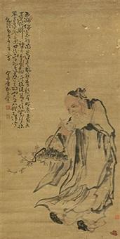 仙人图 立轴 纸本 by huang shen