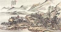 阁影松声 (landscape) by jiang jun