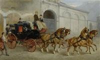 portrait von georg herbert, graf zu münster, eine kutsche steuernd, in begleitung seiner tochter marie by harden sidney melville