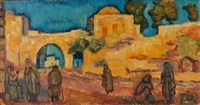 figures in a landscape by arieh allweil