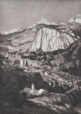 verfolgter centaur; mondnacht; simplicius in der wald-einöde (3 works from intermezzi) by max klinger