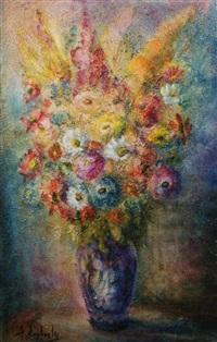 still life with flowers by zvi raphaeli