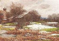 schneeschmelze im alpenvorland by otto rau