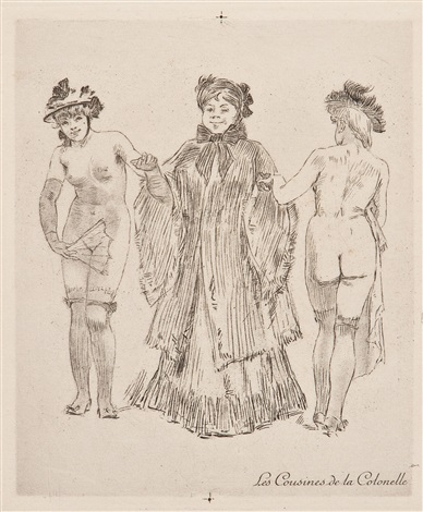 le massage 4 others 5 works by félicien joseph victor rops