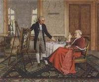 der künstler beim kardinal by maurice joron