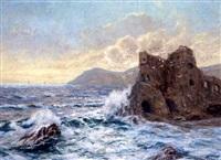 borgruiner ved den sicilianske kyst by margarethe von heinemann