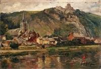 bouvigne et créye-coeur (ruines) by gilbert maurice hubin