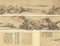 仿大痴山水 (+ colophon, smllr) by qian weicheng