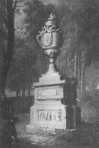 waldinneres mit grabdenkmal by vinzenz fischer