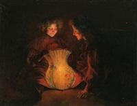 niñas con un farolillo by luis graner y arrufi
