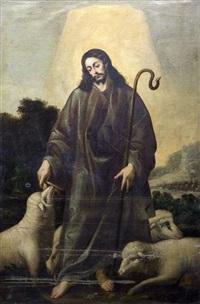 christus als guter hirte by miguel alonso de tovar