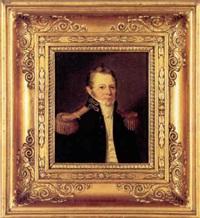 portræt af professor, konsulatsekretær, komponist rudolf bay by louis auguste francois aumont