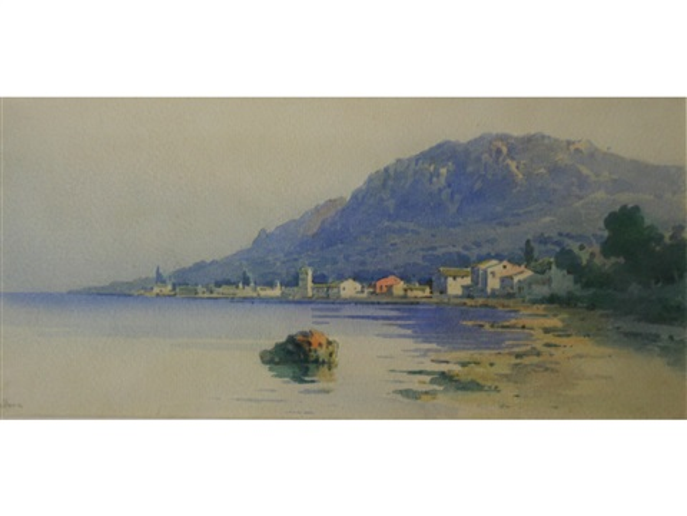 a coastal town corfu by angelos giallina
