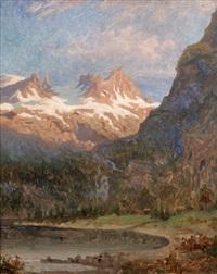 bergslandskap med man i eka by olof arborelius
