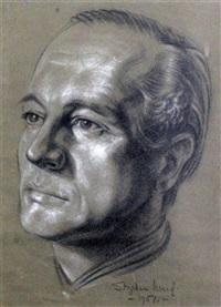portrait of d'oyly john (landscape, oil, verso) by stephen ward