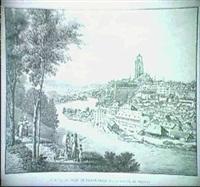 vue de la ville du bern prise sur la route de thun by johann hürlimann