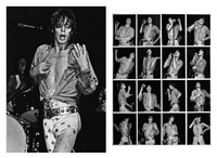 mick jagger (+ another; 2 works) by walter vogel