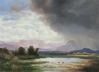 landschaft im chiemgau by ignaz raffalt