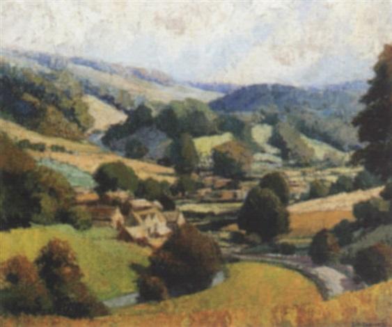 cotswold landscape by john r davies