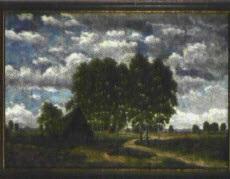 landschaft mit bachlauf by ludwig fischbeck