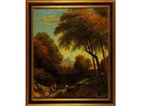 paisaje con árboles by vicente camaron y torra