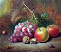 still life of fruit and nuts by charles archer